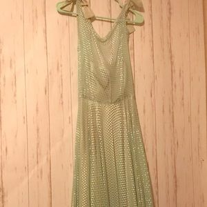 Vintage 🥂 mint green prom dress